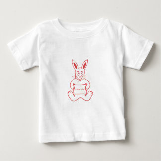 Cute Rabbit with I m So Cute Text Banner Baby T-Shirt