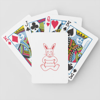 Cute Rabbit with I m So Cute Text Banner Poker Deck