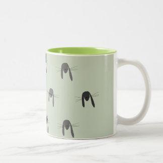 Cute Rabbit Woodland Creature Two-Tone Coffee Mug
