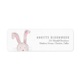 Cute Rabbit Woodland Pink Girl Baby Shower