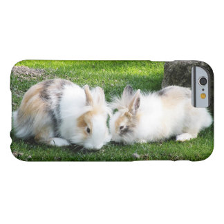 Cute Rabbits on Grass Barely There iPhone 6 Case
