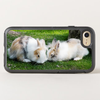 Cute Rabbits on Grass OtterBox Symmetry iPhone 8/7 Case