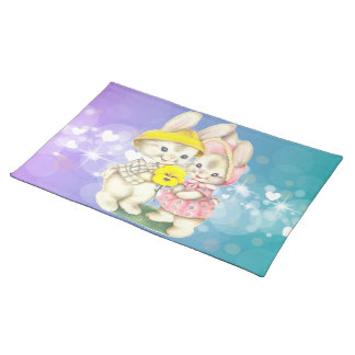 Cute rabbits placemat