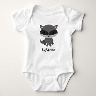 Cute raccoon baby vest baby bodysuit