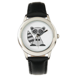 Cute Raccoon Cartoon Watch