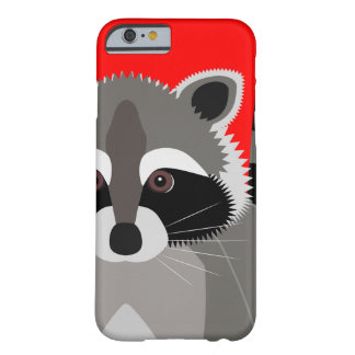 Cute Raccoon Drawing Barely There iPhone 6 Case