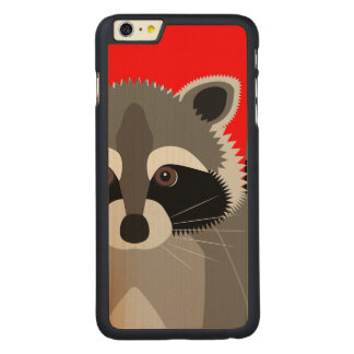 Cute Raccoon Drawing Carved® Maple iPhone 6 Plus Case
