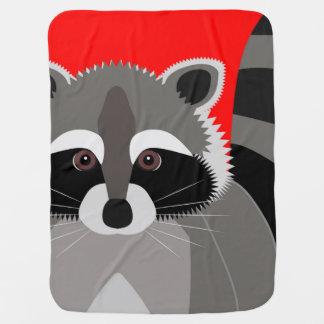 Cute Raccoon Drawing Swaddle Blanket