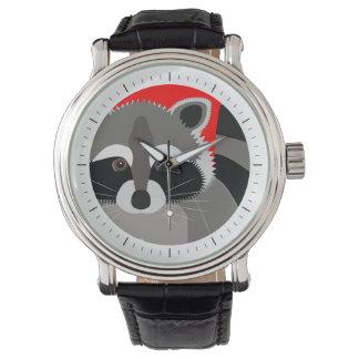 Cute Raccoon Drawing Watch