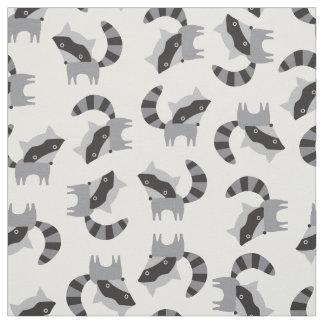 Cute Raccoon Fabric