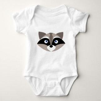 Cute Raccoon Face Baby Bodysuit