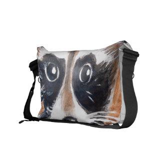 Cute Raccoon Watercolor Art Commuter Bag