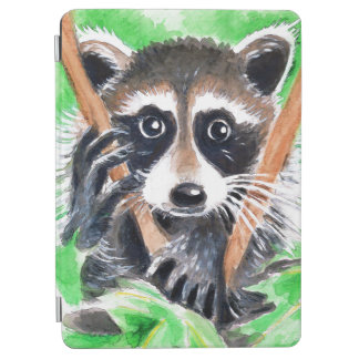Cute Raccoon Watercolor Art iPad Air Cover
