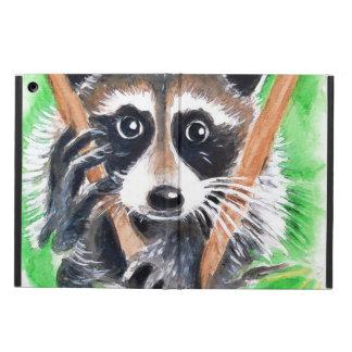 Cute Raccoon Watercolor Art iPad Air Covers