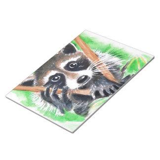 Cute Raccoon Watercolor Art Notepad