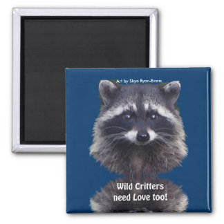 Cute Raccoon Wildlife Magnets