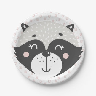 Cute Racoon |  Paper Plates