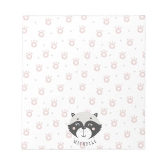 Cute Racoon Personalized Notepad