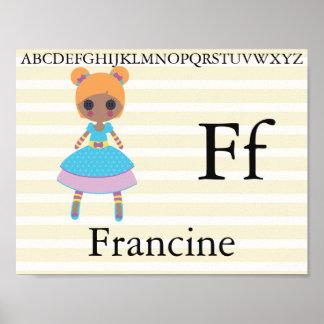 Cute Rag Doll Alphabet Letters Nursery Decor