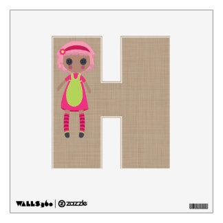 Cute Rag Doll Alphabet Letters Nursery Decor Wall Decal