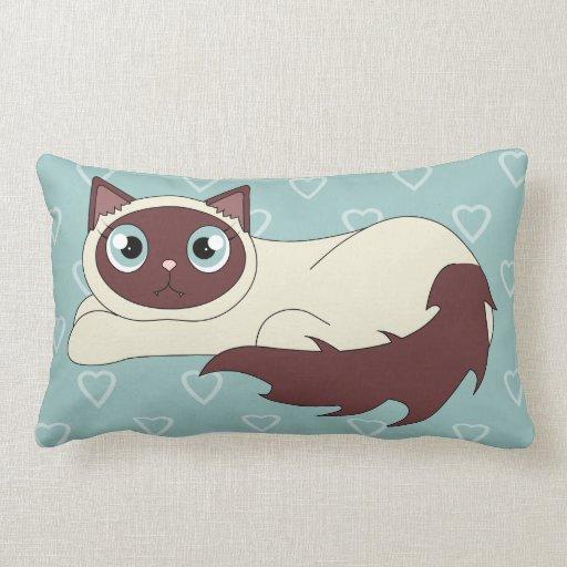 Cute Ragdoll Siamese Cat Sleepy Kitty Pillow