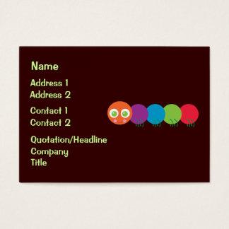 Cute Rainbow Caterpillar Business Cards