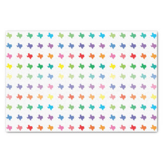 Cute Rainbow Colors Map of Texas Tissue Paper