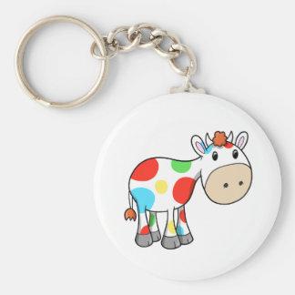 Cute Rainbow Cow  Key Chain