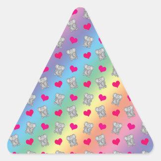Cute rainbow elephant hearts pattern stickers