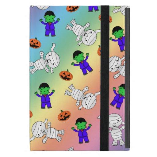 Cute rainbow Frankenstein mummy pumpkins Covers For iPad Mini