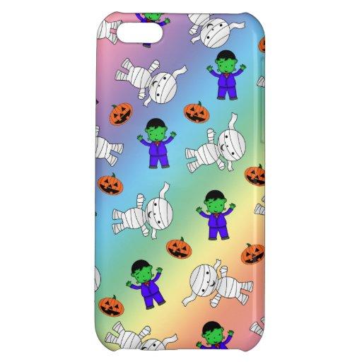 Cute rainbow Frankenstein mummy pumpkins iPhone 5C Covers