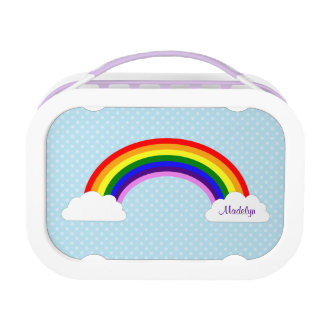 Cute Rainbow Girls Personalized Lunch Boxes