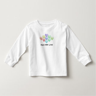 Cute Rainbow Hearts Toddler T-shirt