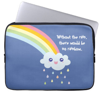 Cute Rainbow Inspirational and Motivational Quote Laptop Sleeve