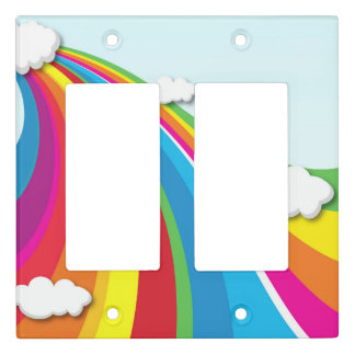 Cute rainbow kids Light Switch Cover
