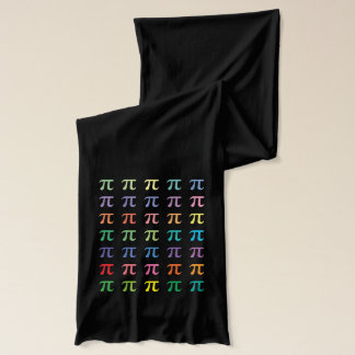 Cute Rainbow of Colors Pi Pattern Math Scarf