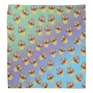 Cute Rainbow Poop Emoji Ice Cream Cone Pattern Bandana