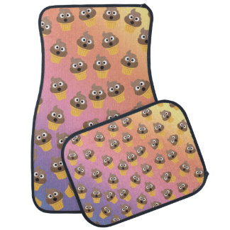 Cute Rainbow Poop Emoji Ice Cream Cone Pattern Car Mat