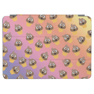 Cute Rainbow Poop Emoji Ice Cream Cone Pattern iPad Air Cover