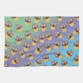 Cute Rainbow Poop Emoji Ice Cream Cone Pattern Kitchen Towel