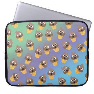 Cute Rainbow Poop Emoji Ice Cream Cone Pattern Laptop Sleeve