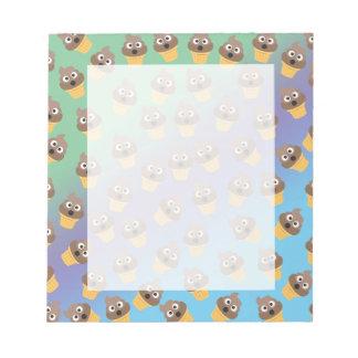 Cute Rainbow Poop Emoji Ice Cream Cone Pattern Notepad