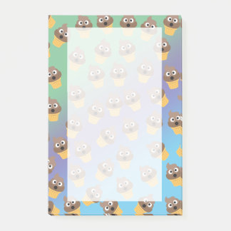 Cute Rainbow Poop Emoji Ice Cream Cone Pattern Post-it Notes