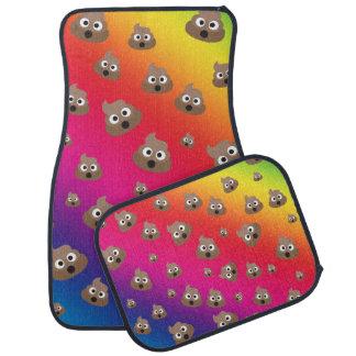 Cute Rainbow Poop Emoji Pattern Car Liners
