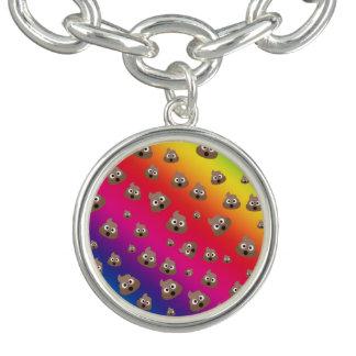 Cute Rainbow Poop Emoji Pattern Charm Bracelets