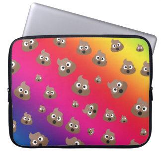 Cute Rainbow Poop Emoji Pattern Computer Sleeves