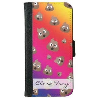 Cute Rainbow Poop Emoji Pattern iPhone 6 Wallet Case