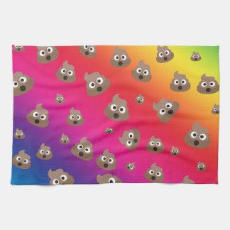 Cute Rainbow Poop Emoji Pattern Kitchen Towel