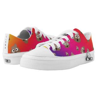 Cute Rainbow Poop Emoji Pattern Low-Top Sneakers