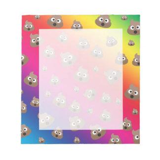 Cute Rainbow Poop Emoji Pattern Notepad